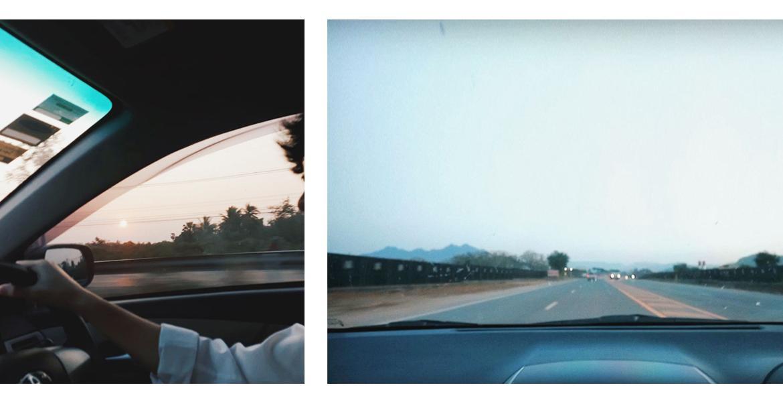 ขับรถ